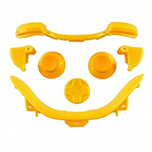 ModFreakz™ Thumb Sticks D PAD RT LT RB LB Bottom Trim Solid Yellow For Xbox 360 Controller