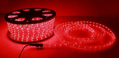 NEW 150' ft 2 Wire LED Rope Light Home Outdoor Christmas Lighting (Red) by MTN Gearsmith