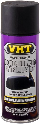 VHT SP27 Black 11 Ounce Hood, Bumper & Trim Paint Satin Spray