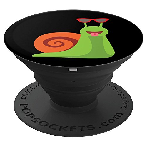 - Funny Lazy Slow Snail in Sunglasses Cute Gift - PopSockets Grip and Stand for Phones and Tablets
