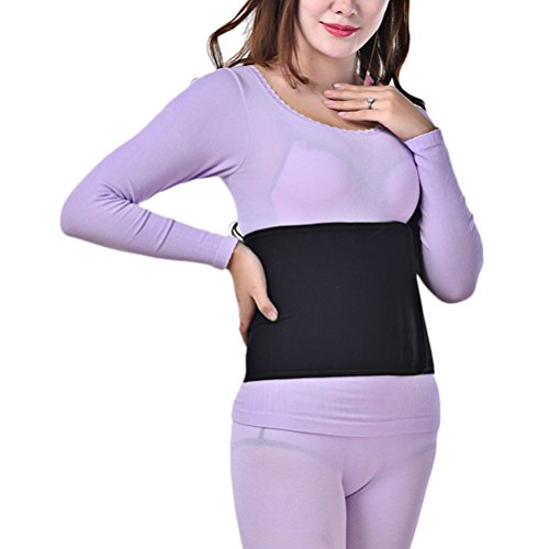 Zhuhaitf bueno Quality Women's Support Maternal Supplies Bamboo Charcoal Full Elastic Abdomen Belly Belts Fiber Band Black