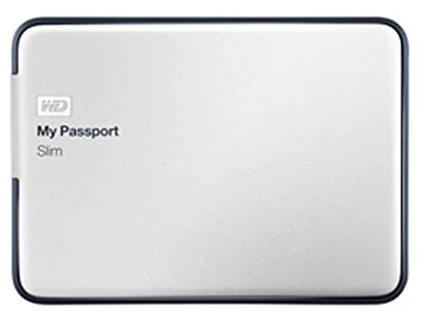 WD My Passport Slim 2TB Portable Metal External Hard Drive USB 3 0 with  Auto Backup