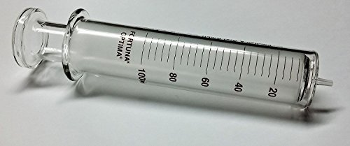 Reusable Glass Syringe, Glass Luer, 100 mL: Office Products
