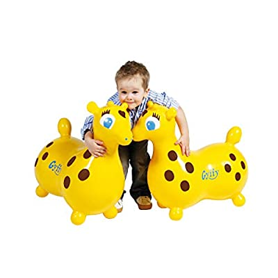 Ledraplastic Gyffy The Giraffe Hop & Ride On, Yellow: Toys & Games