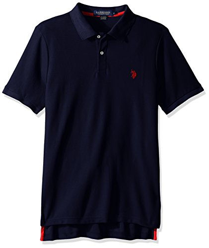 Ultimate Pique Shirt - U.S. Polo Assn. Men's Ultimate Pique Polo, Classic Navy, L