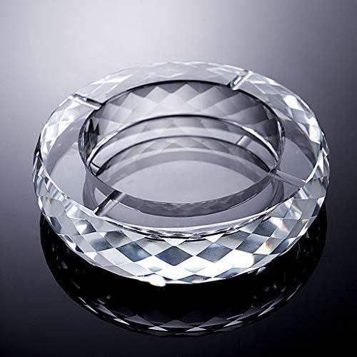 CQ ヨーロッパのクリエイティブ灰皿クリスタルガラスパーソナリティリビングルーム灰皿デスク透明なガラス灰皿オーガナイザー (Size : M)