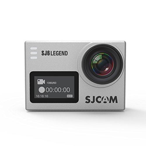 SJCAM SJ6 LEGEND 4K Action Video Camera Gyro Sports Cam 2.0 Inch Touch Screen 4K 24FPS Novatek NT96660 Panasonic MN34120PA 16MP Underwater Waterproof Digital Camcorder Camera Silver by OLYCAM