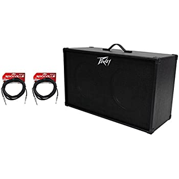 peavey 212 2x12 speakers guitar amplifier amp extension cabinet 2 guitar cables. Black Bedroom Furniture Sets. Home Design Ideas