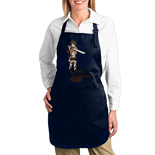 Attack On Titans Eren Yeager Logo Unisex Kitchen Cooking Grilling Apron Navy ()