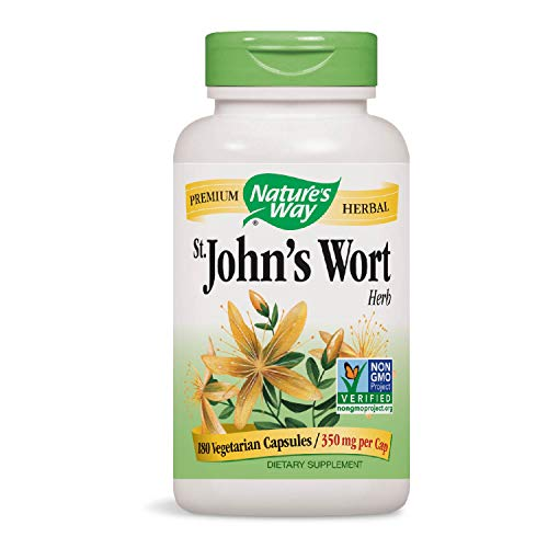 Nature's Way Premium Herbal St. John's Wort Herb 350 mg per capsule, 180 VCaps (Packaging May Vary)