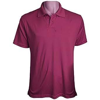 Purple Polyester Shirt Neck Polo For Men