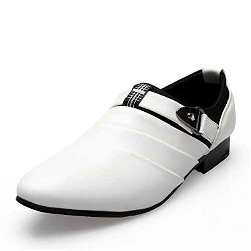 Causual Soft PU 5 Taglia Leather 24 Bianca Shoes Man Loafers Feeling Shoes Larga Generali 27 for Man's Comode 5 cm Ouyangyan Scarpe qtTwz8q