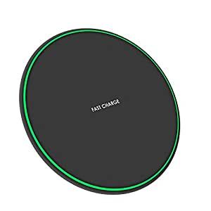 YOREN Wireless Charger, Fast Qi Wireless Charger Pad for iPhone 8 / 8 Plus / X / Samsung Galaxy S9 / S9 Plus /S8 / S8 Plus / S7/ S7 Edge/ S6 Edge Plus/ Note 8 / Note 5