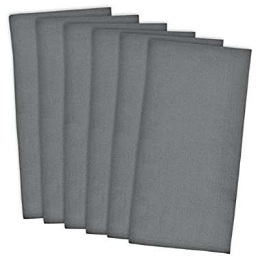 DII 100% Cotton, Machine Washable, Monogrammable Blanks, Solid Flat Weave Dishtowel, 18 x 28 , Set of 6- Gray