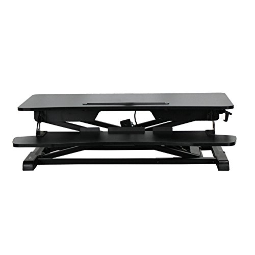 NavePoint Height Adjustable Sit-Standing Ergonomic Desk and Monitor Riser W/ Keyboard tray