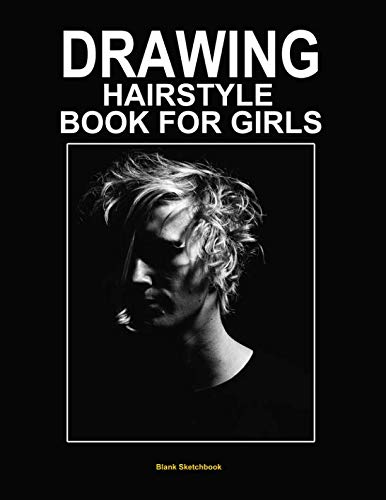 Fashion wig: Blank drawing hairstyle book for girls 8.5
