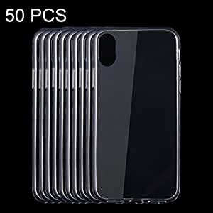 Ruiyue 50 PCS Case for iPhone 8, 0.75mm Ultra-thin Transparent TPU Protective Case Cover ( SKU : Ip8g1086tf )