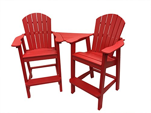 red adirondack chair resin - 3