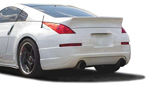 KBD Body Kits Compatible with Nissan 350Z 2003-2008 Duckbill Style 1 Piece Flexfit Polyurethane Rear Wing Spoiler. Extremely Durable, Easy Installation, Guaranteed Fitment, Made in the USA!