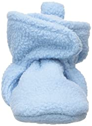 Luvable Friends Baby Fleece Lined Non-Skid Scooties, Light Blue, 0-6 Months