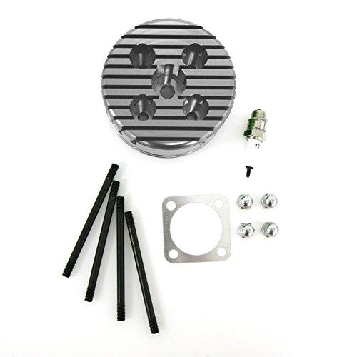 Northtiger Custom Silver CNC Cylinder Head Spark Plug Bolts Fit 66/80cc Motorized Bicycle ()