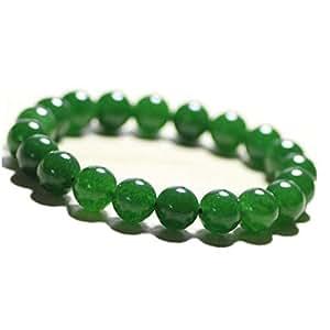 Natural stone bracelet, green crystal chalcedony bracelet.SA019
