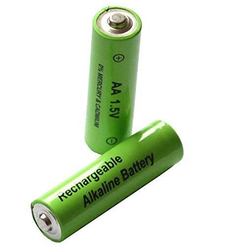 SODIAL Paquete De 20 AA Bater/ía Recargable 3000Mah 1.5V Nuevo Bater/ía Recargable Alcalina para Juguete De Luz Led Mp3