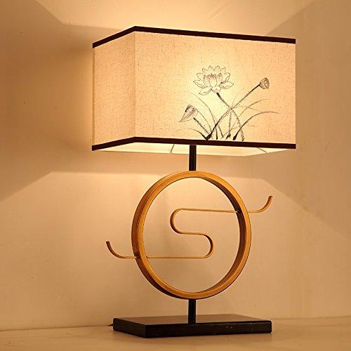 Light Arts Neue chinesische klassische Wohnzimmer Lampe Schlafzimmer Nachttischlampe Retro Studie Dekoration-Lampe