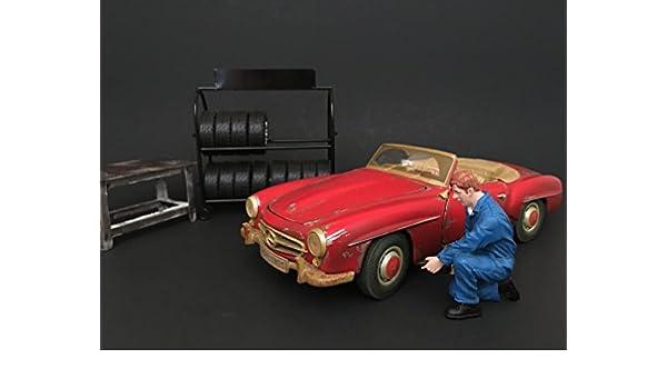 American Diorama - 77446 - Figura mecánico - Tony - Escala 1/18 - Azul: Amazon.es: Juguetes y juegos