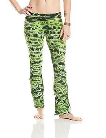 Sew It Seams Tie Dye Women's Yoga Pants Small Avocado Crackle