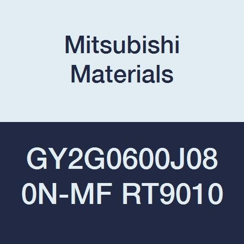 Mitsubishi Materials GY2G0635J040N-MF RT9010 GY Series Carbide Grooving Insert for Multifunctional and Finishing 2 Teeth 0.250 Grooving Width 0.016 Corner Radius J Seat Pack of 10