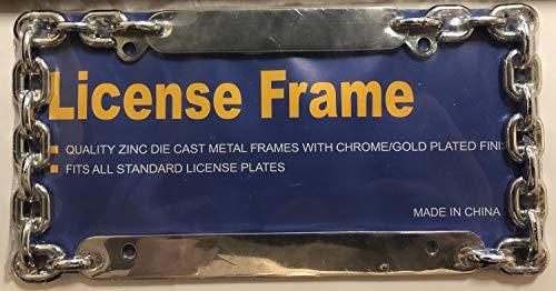 Decor Link Chain - Decor Time Chain Link Chrome License Plate Frame