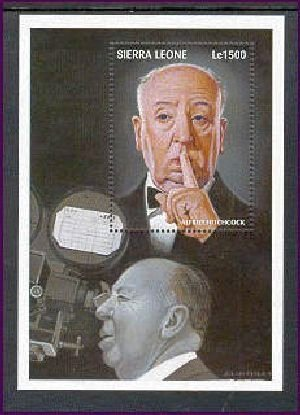 Alfred Hitchcock Hollywood Legend Collectible Postage Stamp Sierra Leone 2063