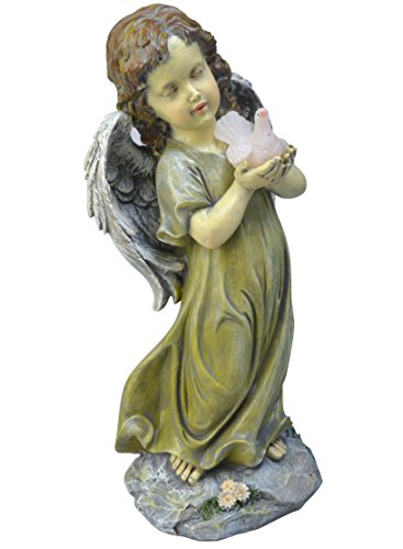 (Moonrays 91359 Solar Powered LED Standing Angel with Dove)