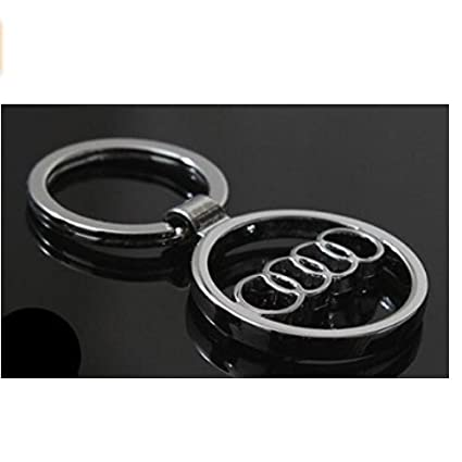 Amazon Com Audi Car Logo Keychain 3d Silver Hollowed Automotive