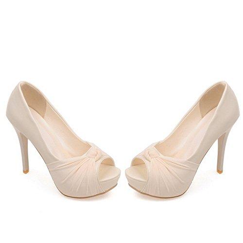 Adee material Lazos Mujer Beige heels beige sandalias suave high rF4rn6xwI1