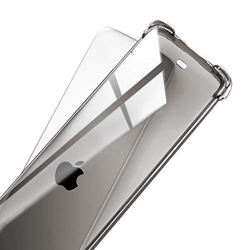 pzoz Remote Case Compatible Apple TV 4k 4th Generation Siri Remote Control Shock Proof Silicone Cover Holder Compatible 4th Gen Remote Contorller - Clear Black