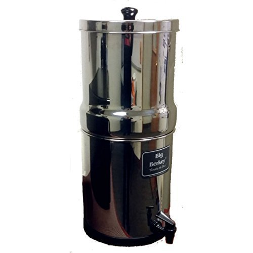 Berkey BK4X2-BB Big Berkey Stainless Steel Water Filtration System with 2 Black Filter Elements (Water Filtration Systems Survival compare prices)