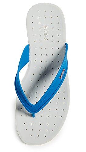 Nuota Sandalo Infradito Da Uomo Per Un Comfort Totale - Nuota Il Tuo Blitz Estivo Blu / Bianco / Posato