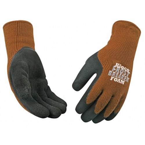 KINCO 1787-XL Men's Frost Breaker Foam Latex Form Fitting Thermal Gripping Glove, X-Large, Brown
