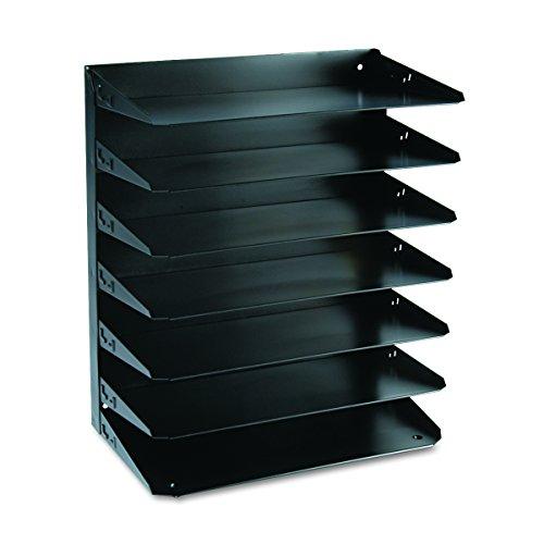 Steelmaster 2647HLBK Black Multi-Tier Horizontal Legal Organizers, Seven Tier, Steel - Mmf Steelmaster Horizontal Organizer