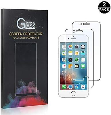2 Pack iPhone 6 Plus/iPhone 6S Plus Cristal Vidrio Templado Templada, SONWO Protector de Pantalla para Apple iPhone 6 Plus/iPhone 6S Plus, Anti-Burbujas, Anti-despegamientos, Anti-arañazos: Amazon.es: Bebé