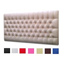 Faux Leather White Crystal Diamante 5ft King Size Headboard Only by NICE HEADBOARDS