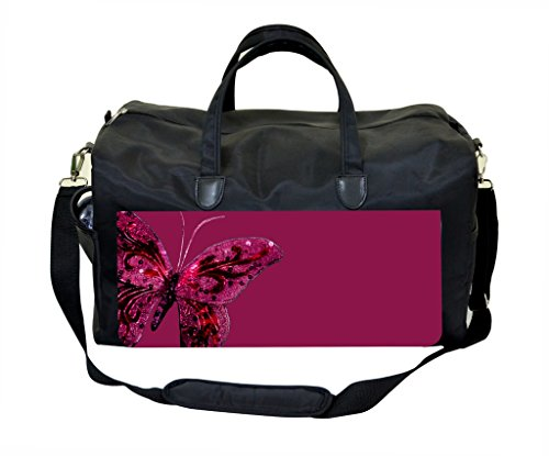 - Purple Jeweled Butterfly Weekender Bag