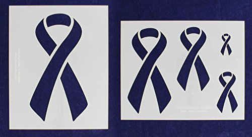 Awareness Ribbon Stencils - 2 Piece Set - 8 x 10 - Stencil Ribbon