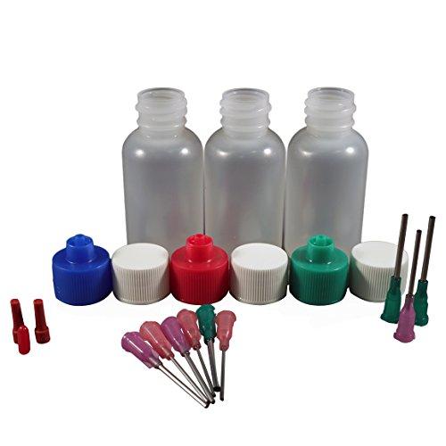 Jensen Global Henna Kit with 1 oz Bottle & Blunt Dispensing Tips. (non sterile / non medical)