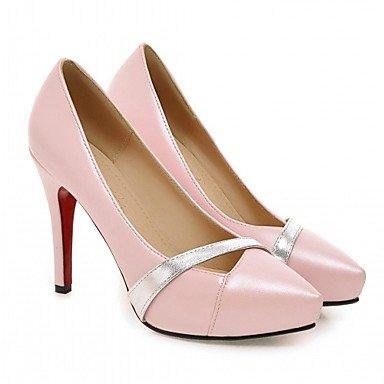Le donne eleganti sandali SEXY DONNA PRIMAVERA tacchi cadono Comfort similpelle Office & Carriera Abito casual Stiletto Heel nero rosa bianco , nero , us3.5 / EU35 / uk2.5 big kids