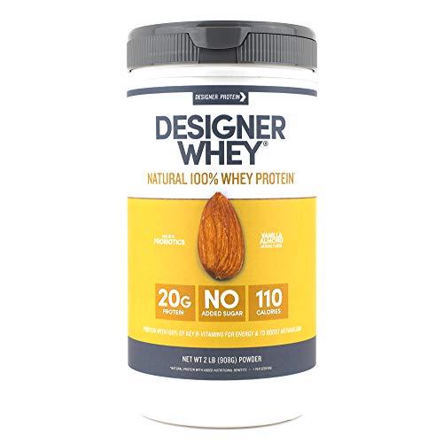 - Designer Whey Protein Powder, Vanilla Almond, 1.9 Pound, Non GMO