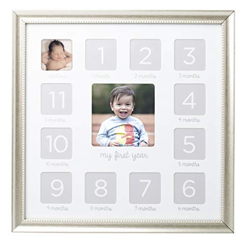 Lil Peach First Year Keepsake Frame, Makes Perfect Nursery Décor, Gift for New Parents, or Addition to Baby Registry, -