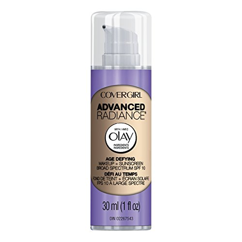 COVERGIRL Advanced Radiance Age Defying Foundation Makeup Classic Ivory, 1 oz